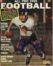 1965 All Pro Football magazine Fran Tarkenton, Minnesota Vikings ~ Fair