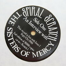 "SISTERS OF MERCY An Interview With.... UK 7"" Spiral Scratch 1 1988"