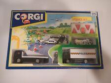 Vintage Corgi Police Set 92385 w/ Helicopter and Bike
