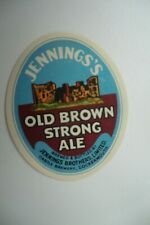 MINT JENNINGS COCKERMOUTH OLD BROWN STRONG ALE BREWERY BEER BOTTLE LABEL