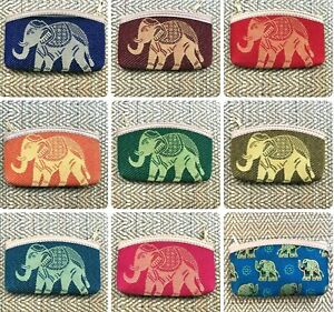 Cute Cotton coin purse with gold elephant design