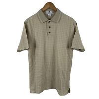 Givenchy Monsieur Vintage Polo Shirt Mens Size Medium Beige Short Sleeve
