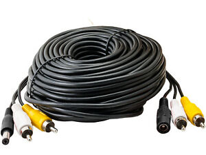 3-Way Cable with RCA Power Audio Video 5m 10m 20m 30m 40m 50m