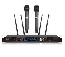 UHF Professional Wireless Cordless Handheld Vocal Performance Microphone Black