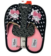 Disney Marie Aristocat Slippers Black With Pink Slide On Soft Mules Primark Gift
