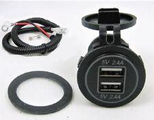 No LED Weatherproof 4.8 Amp USB Charger Adapter Socket 12V Outlet Power Jack