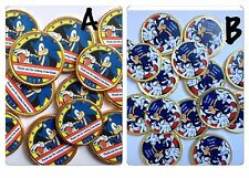 16 x Personalised  Sonic The Hedgehog Thank You  Chocolate Birthday Gold Coins