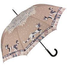 Regenschirm Automatik Katzen Kunst Damen braun Wachtmeister: Brunello