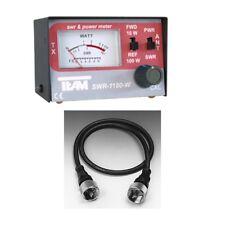 Set Stehwellenmeßgerät TEAM SWR 1180 W inkl. Verbindungskabel