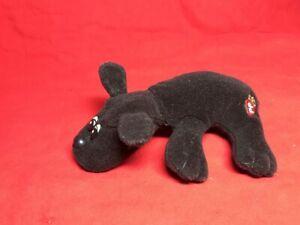 """Vintage Tonka 1985 Small 8"""" Pound Puppy Newborns Dark Brown"""