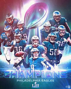 Philadelphia Eagles 2018 Super Bowl Champions Art Print -  8x10 Color Photo