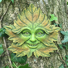 Green Forest Greenman Decorative Garden Wall Plaque. 11cm