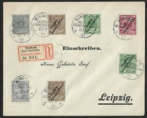 SWA TO GERMANY MULTIFRANKED COVER 1901