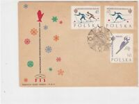 Poland 1962 World Championships Skiing Slogan Cancel FDC Stamps Cover Ref 25106