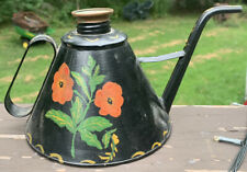 Antique Vintage Painted Toleware Watering Can