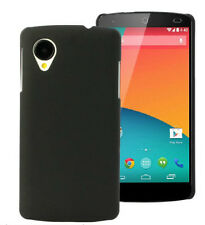 Rubberized Matte Finish Hard Back Case Cover For LG Google Nexus 5 - Black