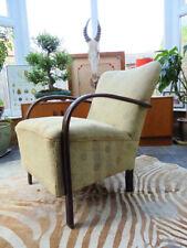 Beech Art Deco Antique Armchairs