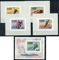 Olympic Games 1976 Innsbruck Olympics MNH Tchad imperf ss and de-luxe sheets