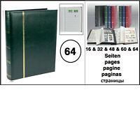 5x LOOK 1150-3 Grün Briefmarkenalbum Einsteckbuch Einsteckalbum 64 weßse Seiten