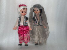 VINTAGE PAIR OF PLASTIC DOLLS-GIRL AND BOY IN UZBEK TRADITIONAL COSTUMES, USSR