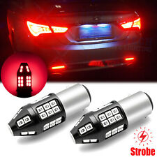 1157 2057 2357 40-SMD LED Red Strobe Flashing Blinker Brake Tail Light Bulb Lamp