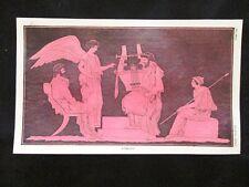 Omero: pittura rossa Incisione colorata a mano del 1820 Mitologia Pozzoli
