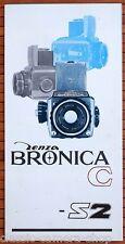 Prospekt Werbeheft ZENZA BRONICA Kamera Modell C und S2 NIKKOR-Objektive (X3032
