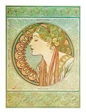 """Mucha 1976 Authentic Vintage Art Nouveau Print """"Laurier"""""""