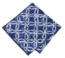 NEW Pocket Square Handkerchief Diamond Indigo Made w/ POLO Ralph Lauren Fabric
