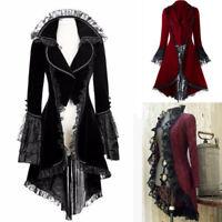 Medieval Victorian Steampunk Women Coat Lace Cardigan Vintage Jacket Costume