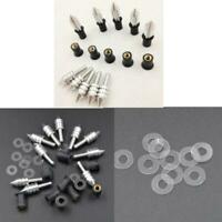 10Pcs Motorcycle Windscreen Windshield Spike Fairing Well Nut Bolts Screw M5