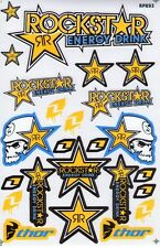 New Rockstar Energy Motocross Racing Graphic stickers/decals. 1 sheet (st98)