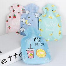 Kids Mini Hot Water Bottles Water Injection Bag Cartoon Warm Storage Bags tb