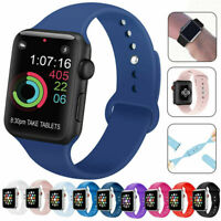 For Apple Watch iWatch Series 4/5/6 SE 38/40/42/44mm Soft Silicone Sports Strap