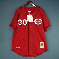 100% Authentic Ken Griffey Jr Mitchell & Ness Reds MLB Jersey Size 48 XL Mens