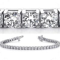 15 ct Round Diamond Tennis Bracelet 14k white Gold, 33 x 1/2 ct G-H VS/SI1 GIA