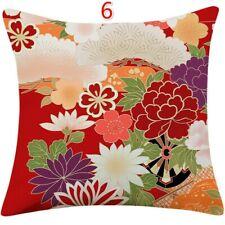 Retro Throw Pillow Case Cover Cushion Sofa Japanese Home Decor 45x45cm