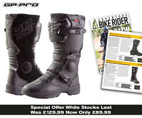 NEW GP PRO ADVENTURE 2.1 WATER RESISTANT ROAD TOURING MOTORCYCLE DUAL SPORT BOOT