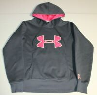 Womens Under Armour Storm Semi-Fitted Hoodie Sweatshirt SM Small Gray 1239149