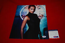 sexy ALICIA KEYS singer signed PSA/DNA 11X14 photo