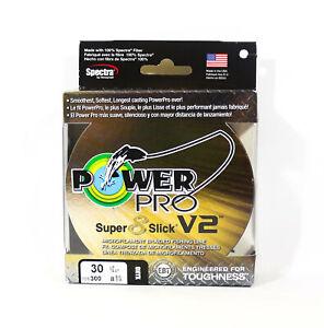 Power Pro Super 8 Slick Version 2 Spectra Line 30lb by 300yds Onyx (8233)