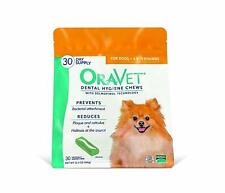 Oravet Dental Hygiene Chews X-Small Dogs Up to 9 lbs, 30 Chews Yellow