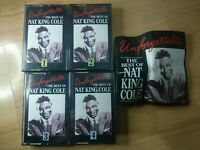 NAT KING COLE Cassette Tapes X 4 Unforgettable The Best Of Nat King Cole