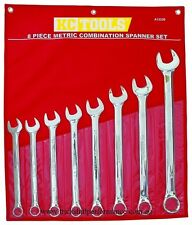 KC Tools A13339 8 PIECE METRIC COMBINATION SPANNER SET