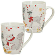 Tassen Weihnachtstassen Porzellan Weihnachten Dekor Tiere 2er Set je 300 ml