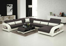 Leather Sofa Couch Interior Design Corner Set Modern G8016 New