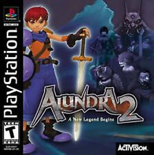 Alundra 2 Playstation 1 complete in case w/ manual black label Great shape