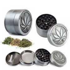 Tobacco Herb Grinder Spice Herbal Alloy Smoke Crusher 4 Piece Metal Chromium
