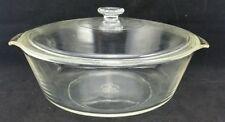 "Anchor Hocking Clear 3 Qt 10 3/8"" Diameter Lidded Casserole Dish W/ Handles"