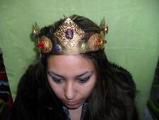 corona artigianale per vestiti e costumi d'epoca per madonne santi papa 19 cm d